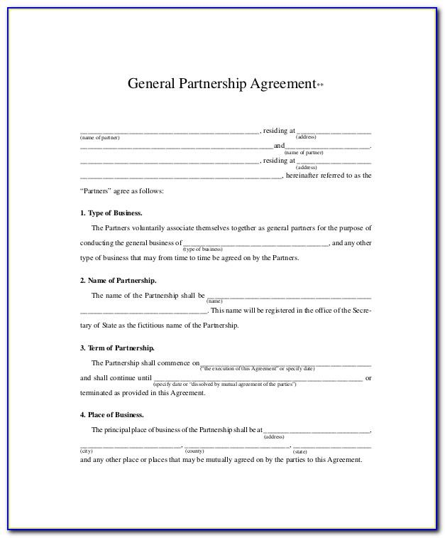 Free Affiliate Partnership Agreement Template