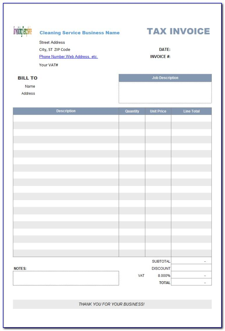 Free Apple Numbers Invoice Templates