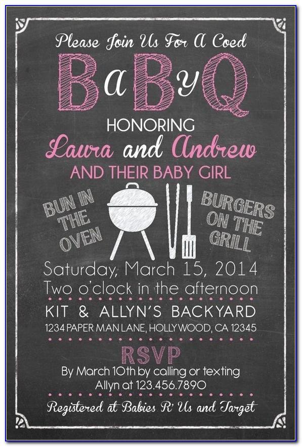 Free Baby Q Invitations Templates