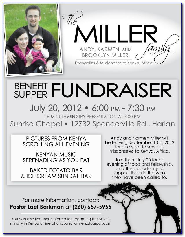 Free Benefit Dinner Flyer Template