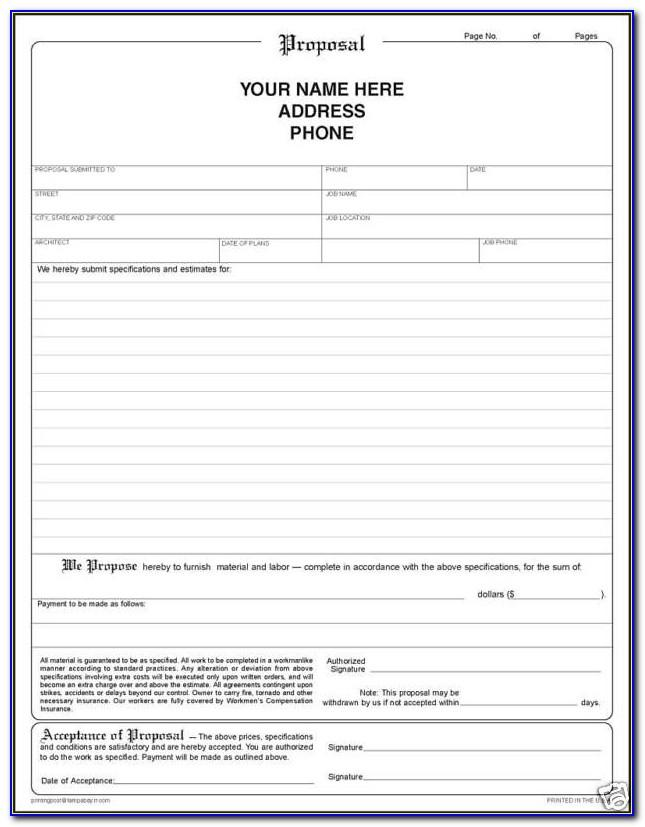 Free Blank Business Plan Template Download