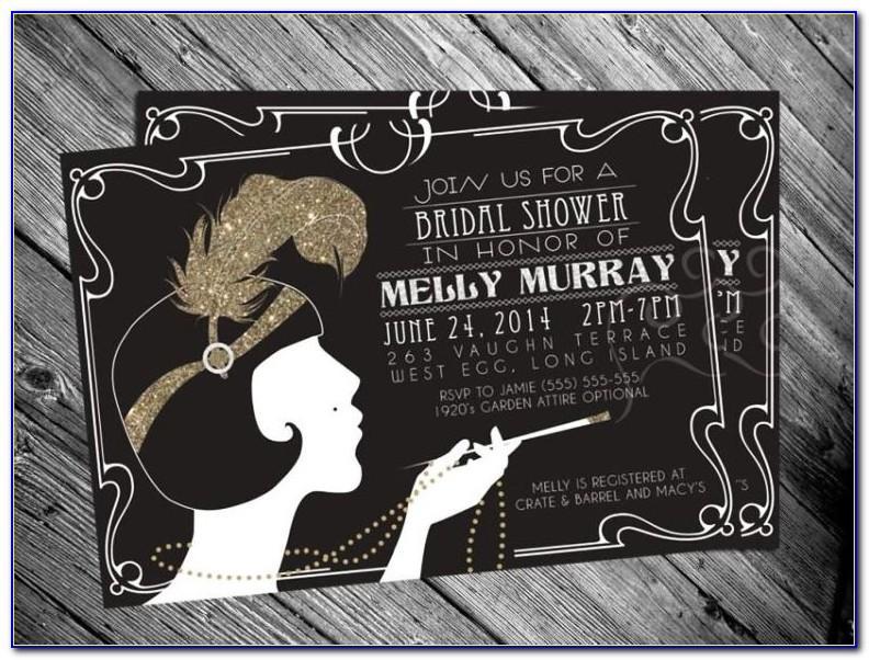 Free Blank Great Gatsby Invitation Template