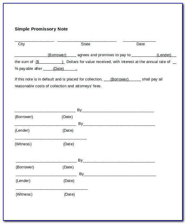 Free California Promissory Note Form