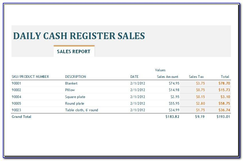 Free Daily Sales Activity Report Template