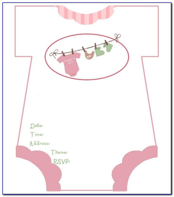 Free Diaper Shower Invitations Templates