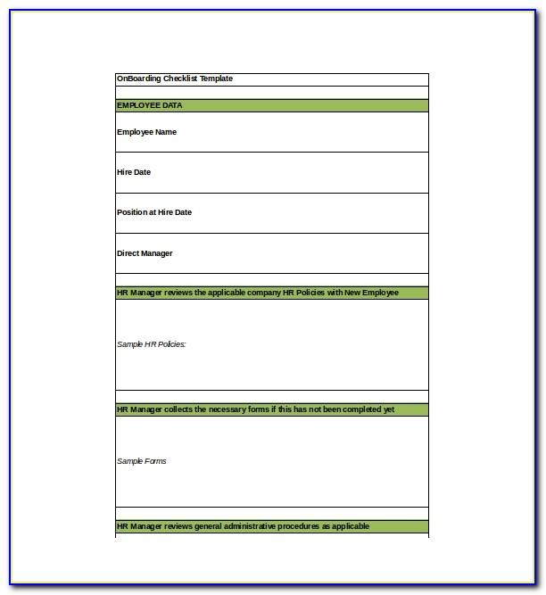 Free Employee Onboarding Checklist Template