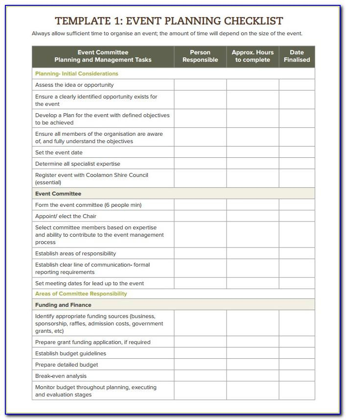 Free Event Management Plan Template Excel