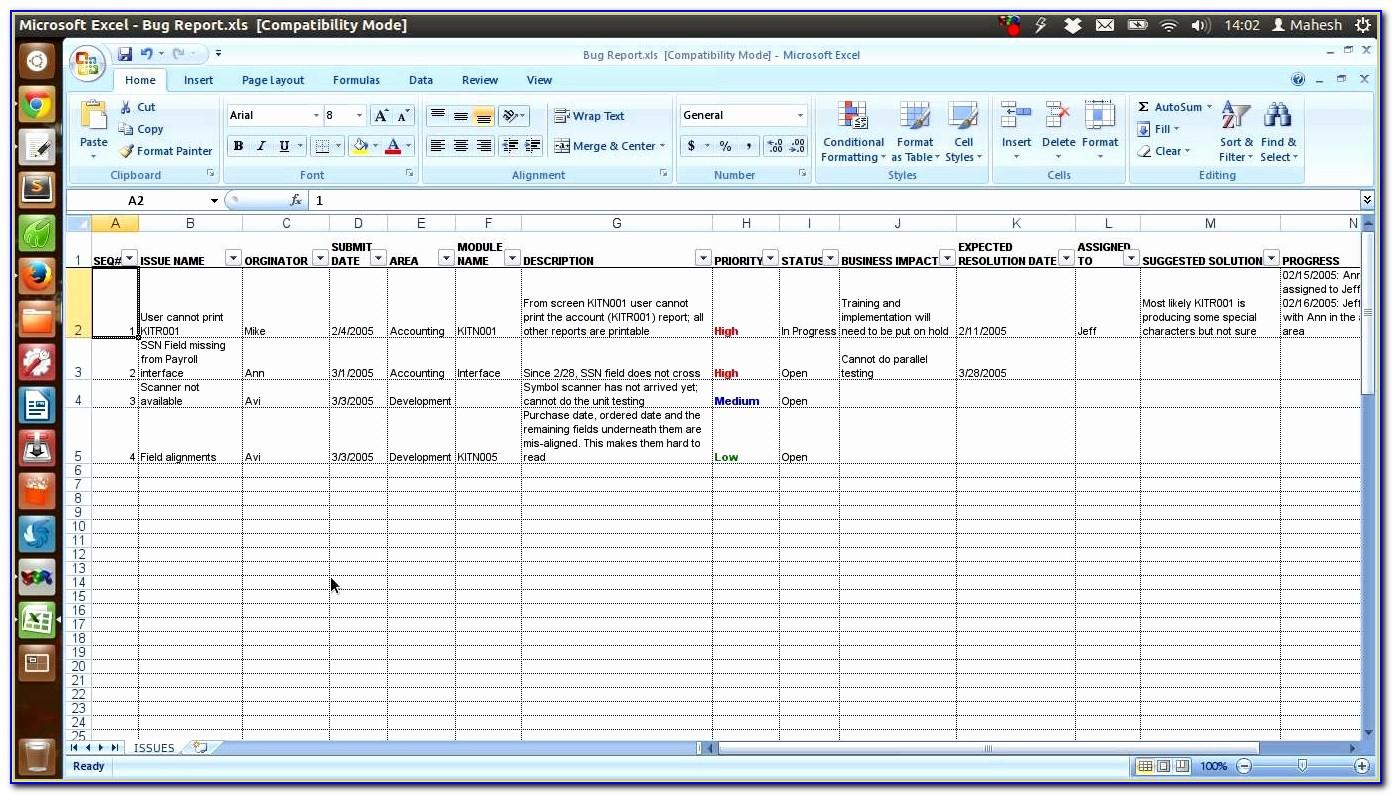 Free Excel Software Test Case And Report Template