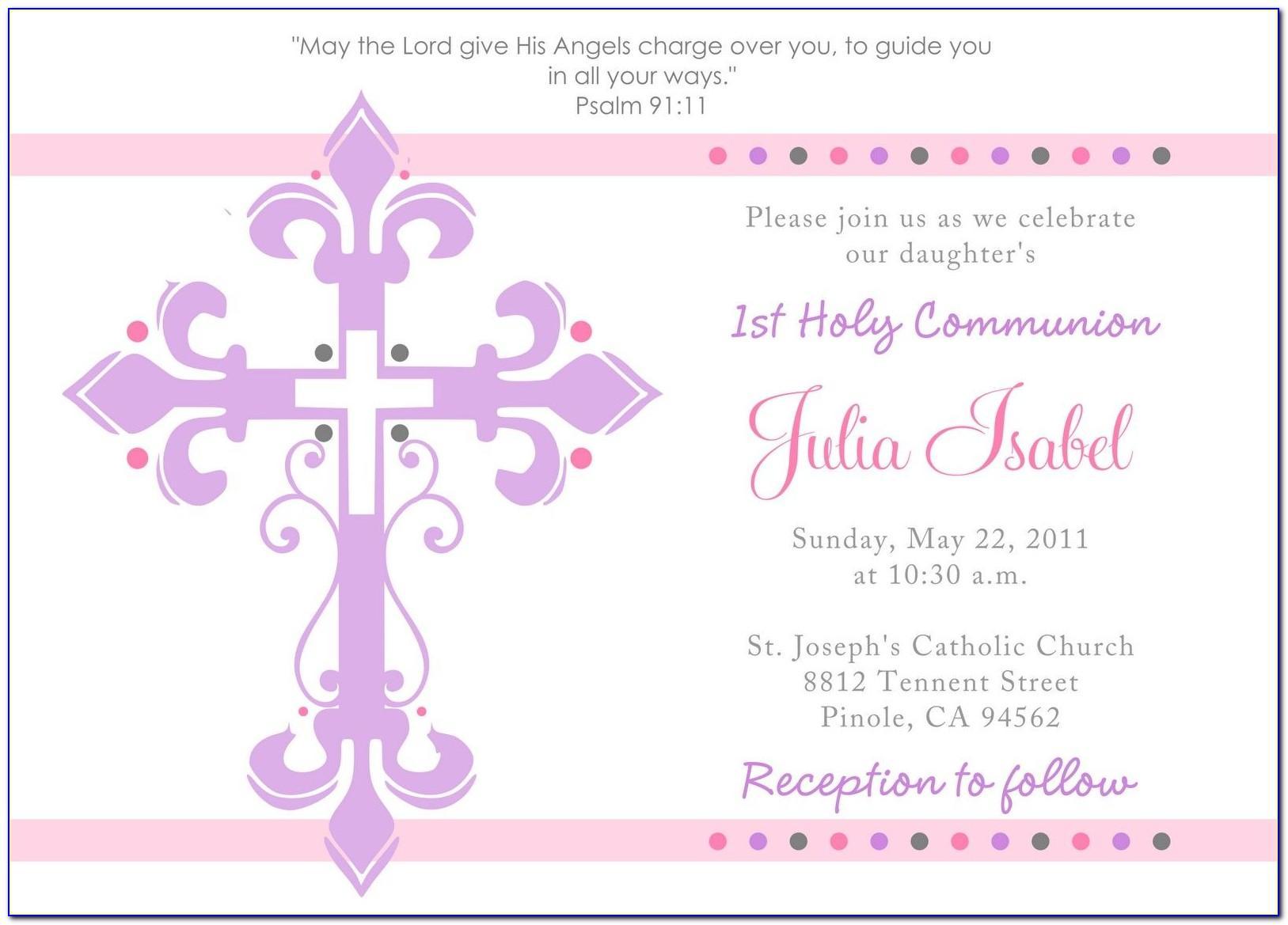 Free First Communion Invitation Templates