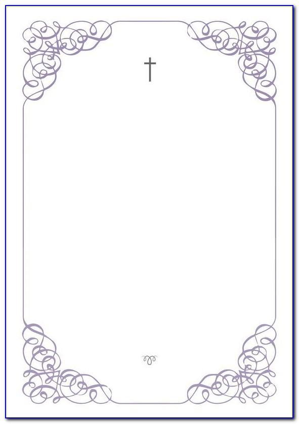 Free First Holy Communion Invitation Templates