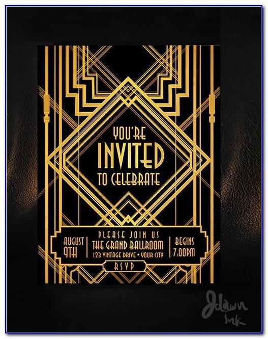 Free Great Gatsby Invitation Templates