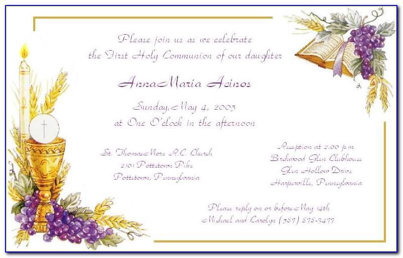 Free Holy Communion Invitation Templates