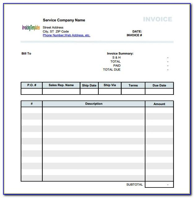 Free Invoice Format Word Download