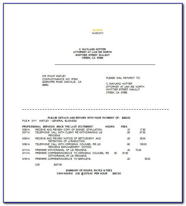 Free Law Firm Invoice Template