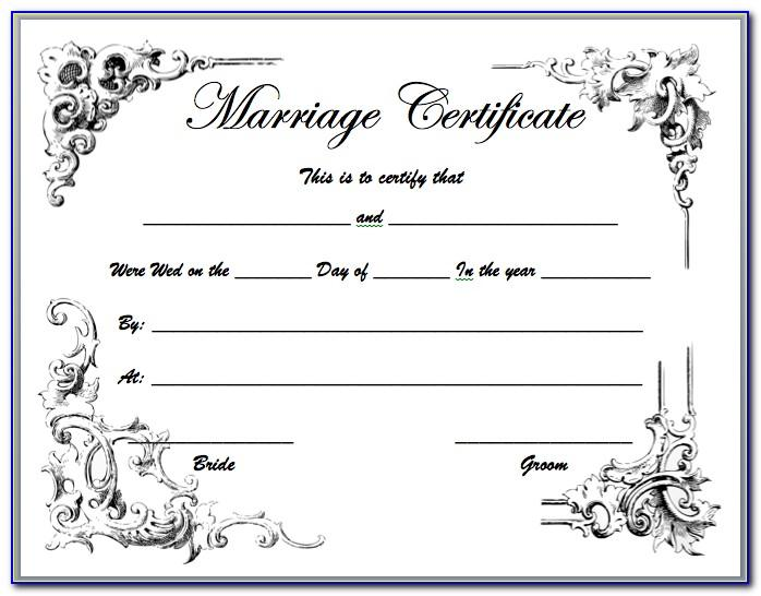 Free Marriage Certificate Template Download