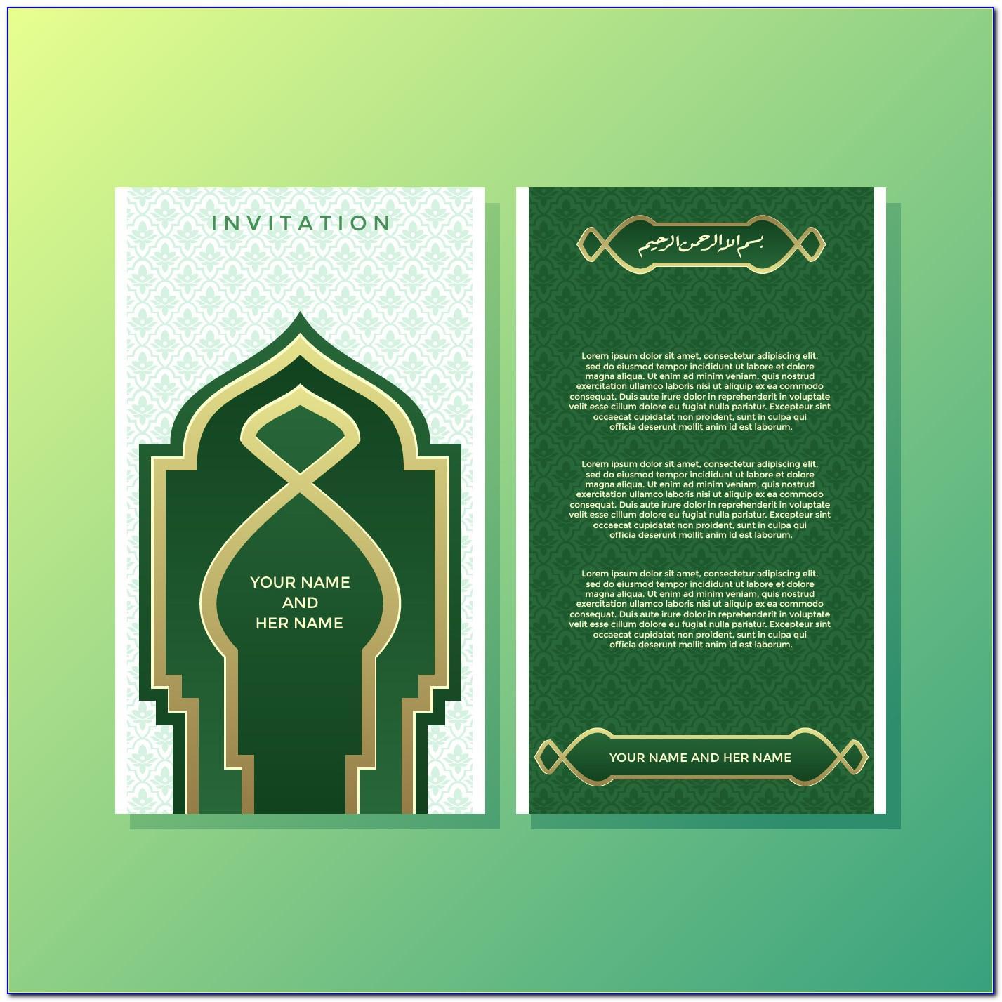 Free Muslim Wedding Invitation Templates For Word