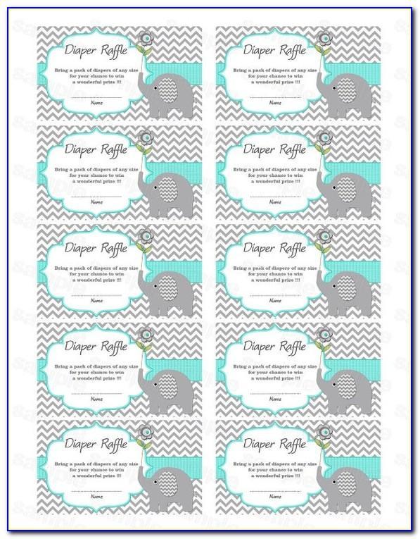Free Owl Diaper Raffle Ticket Template