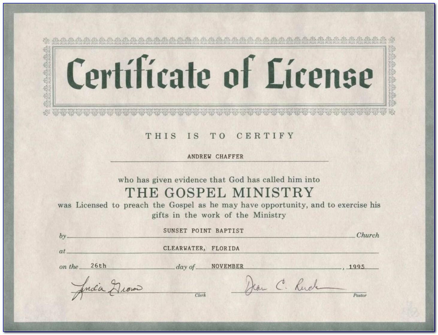Free Pastor Ordination Certificate Templates