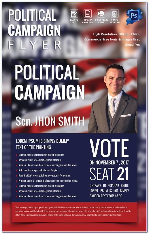 Free Political Brochure Template