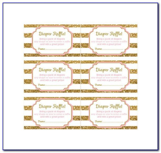 Free Printable Diaper Raffle Template