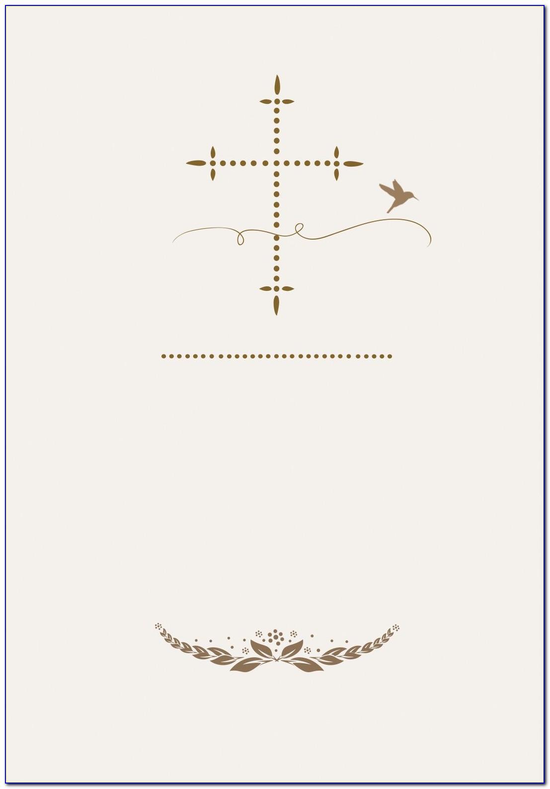 Free Printable First Communion Invitation Templates