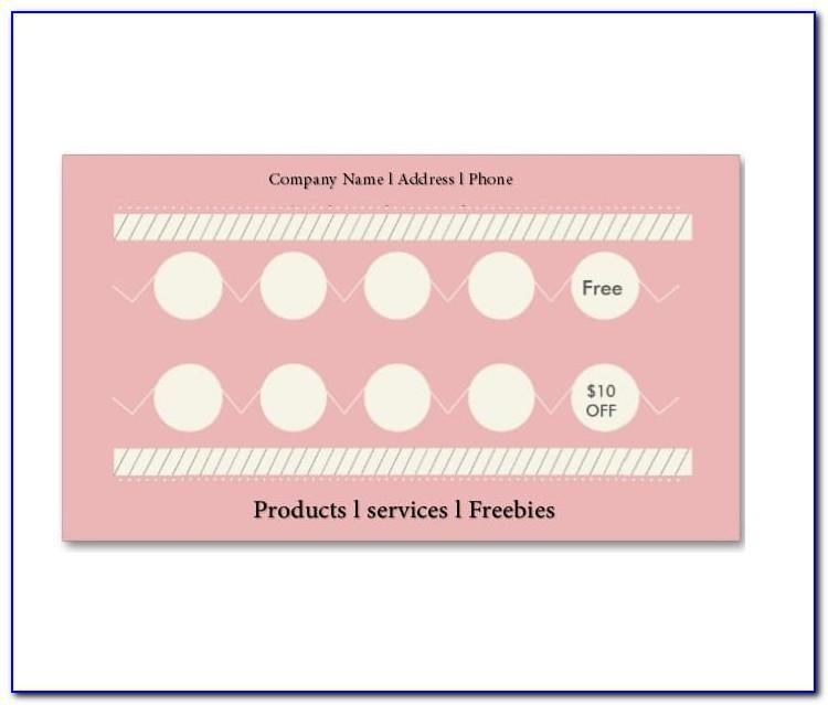 Free Printable Loyalty Card Template