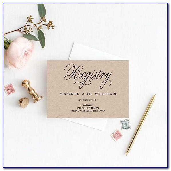 Free Printable Wedding Registry Card Template