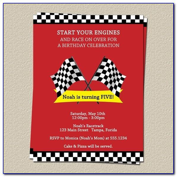 Free Race Car Party Invitation Templates