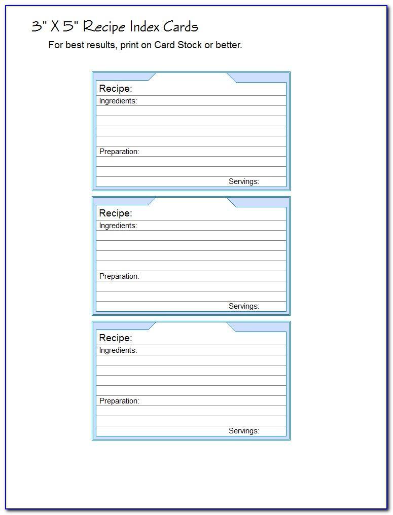 Free Recipe Index Card Template