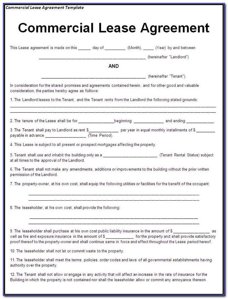 Free Rental Lease Agreement Form Printable
