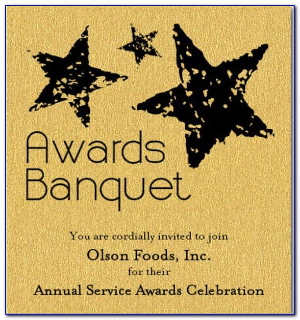 Free Service Award Invitation Template