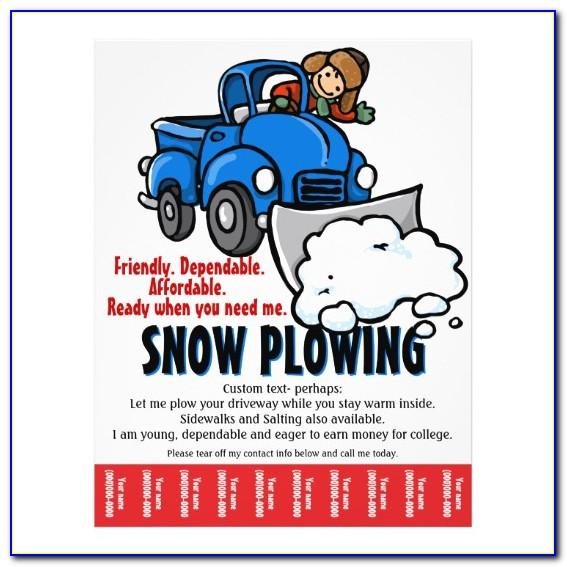 Free Snow Plowing Flyer Template