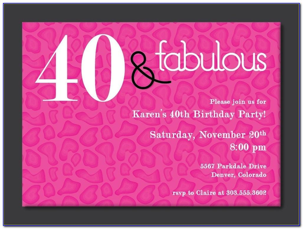 Free Surprise 40th Birthday Party Invitation Templates