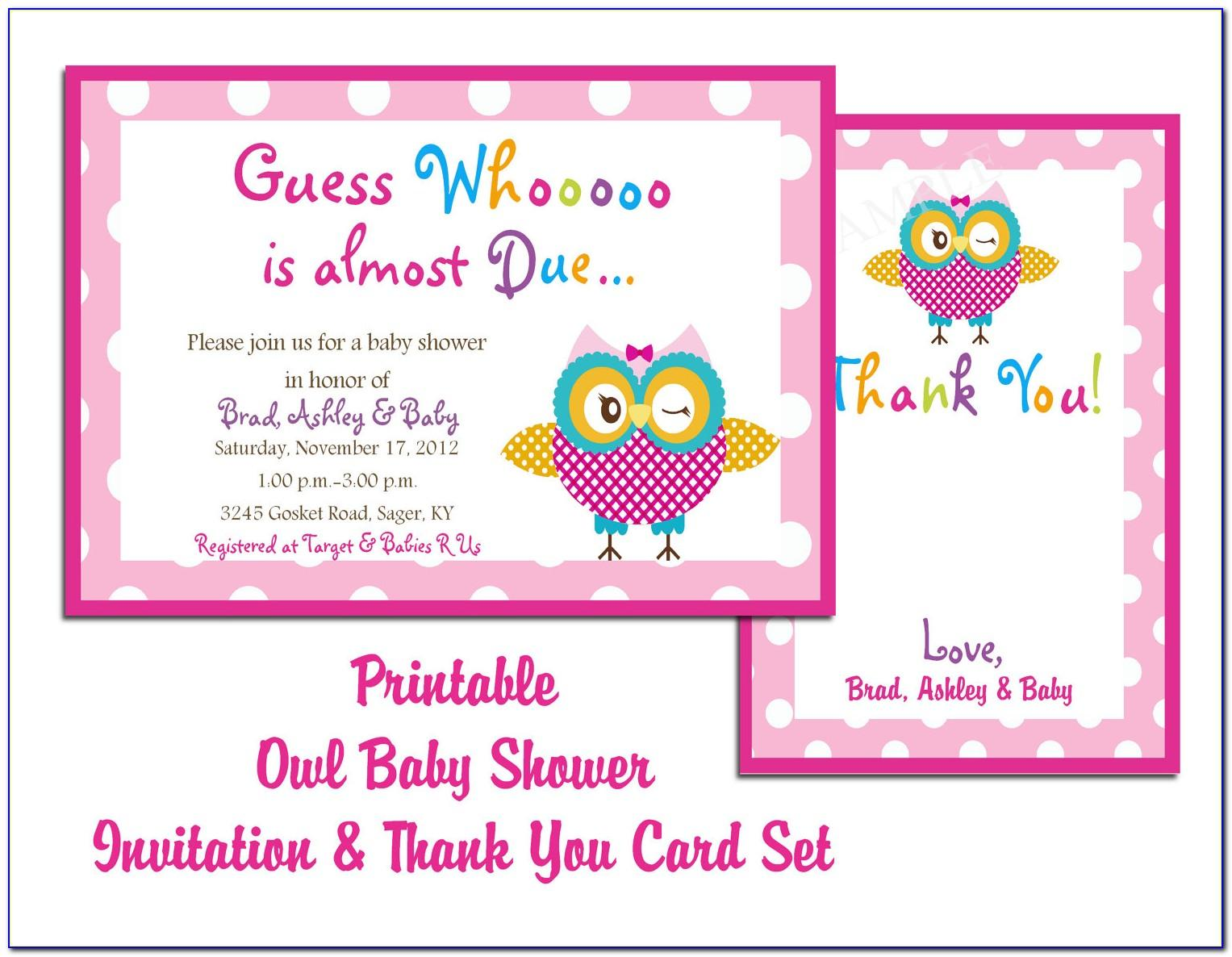 Free Template For Baby Shower Invitation Card