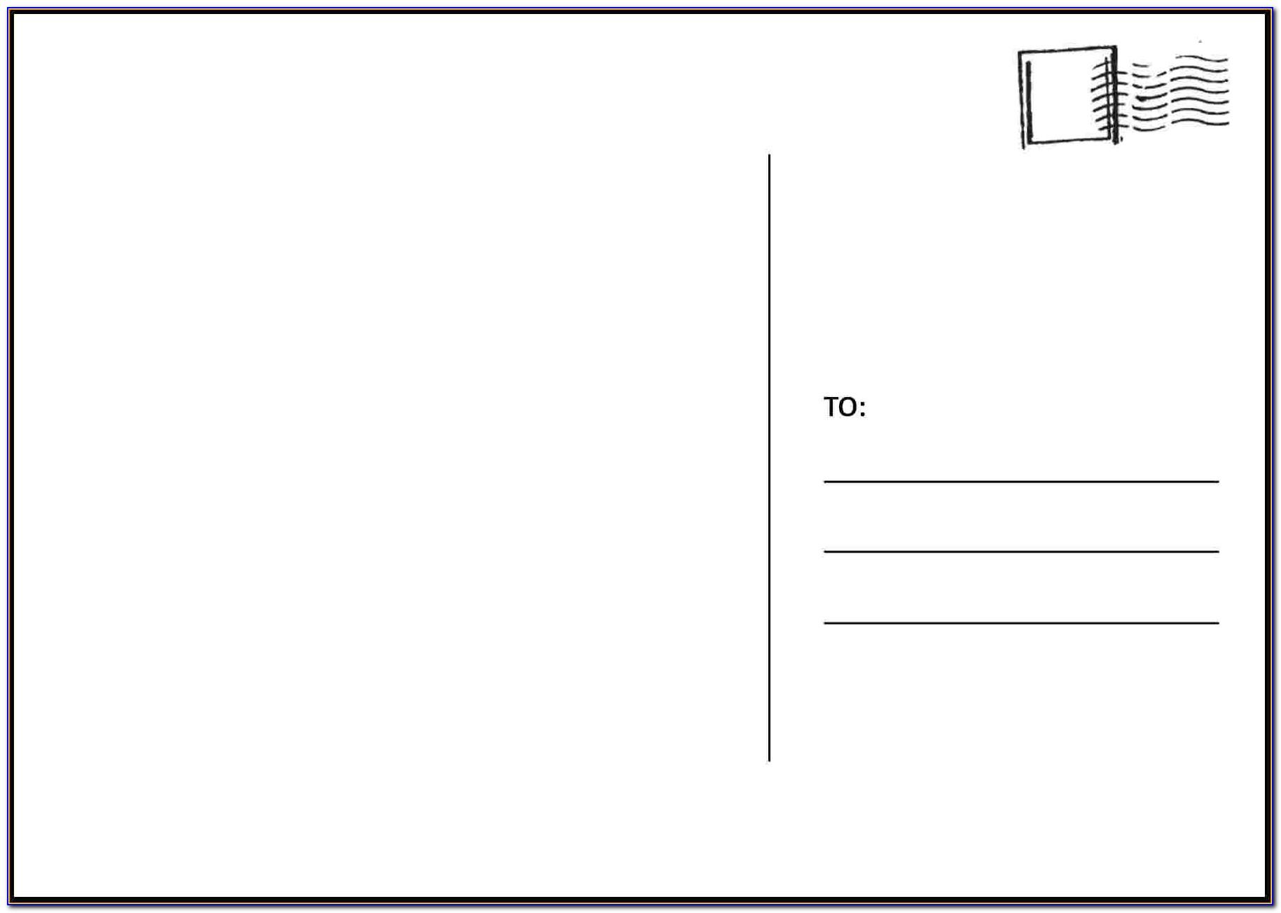 Free Template For Postcards