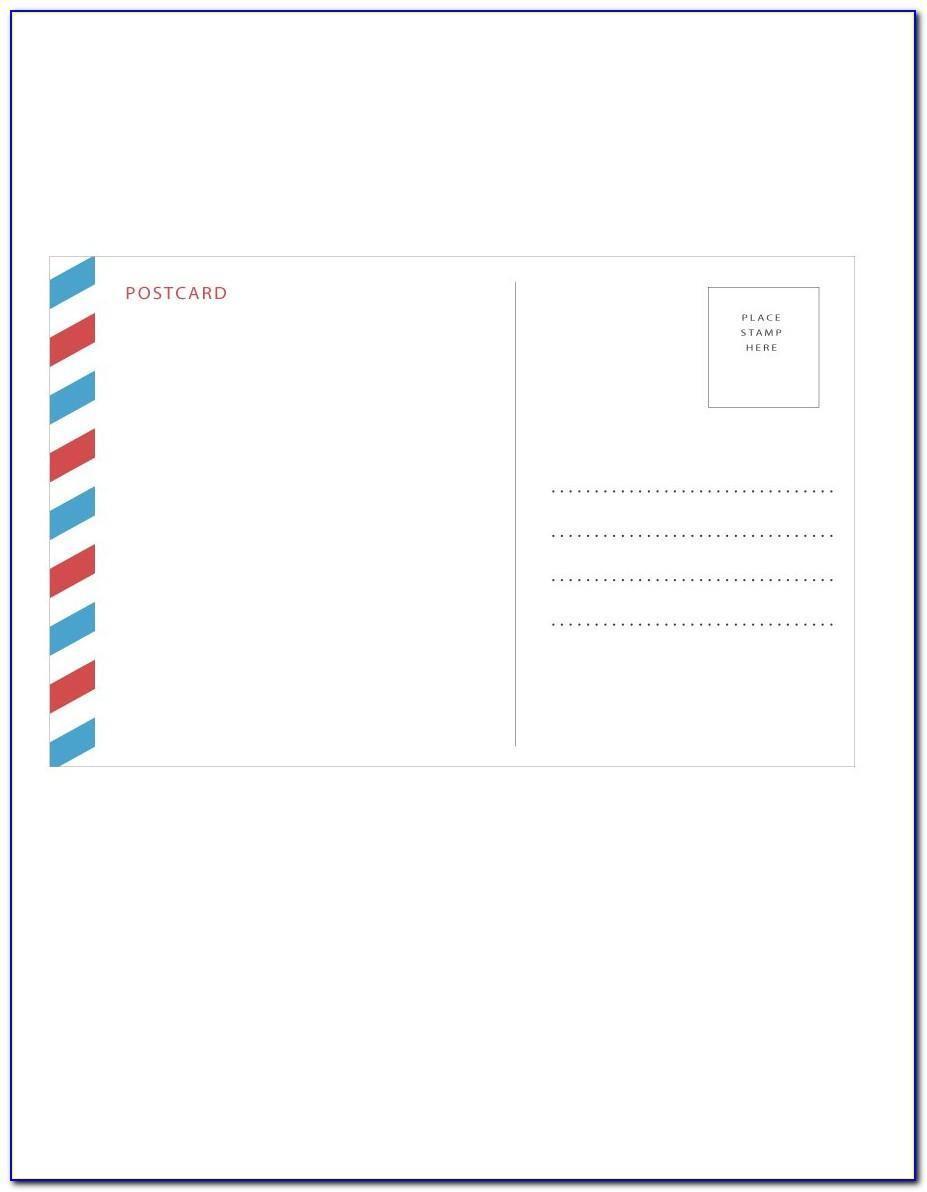 Free Template Postcard