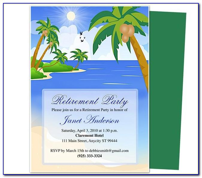 Free Templates For Retirement Party Flyers