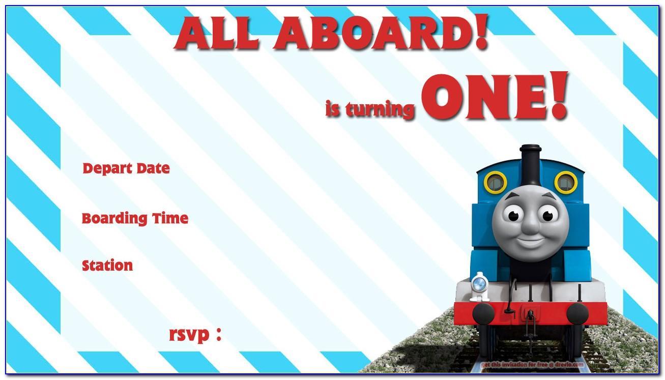 Free Thomas The Train Birthday Invitations Template