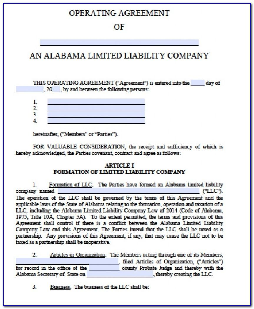 Free Virginia Llc Operating Agreement Template