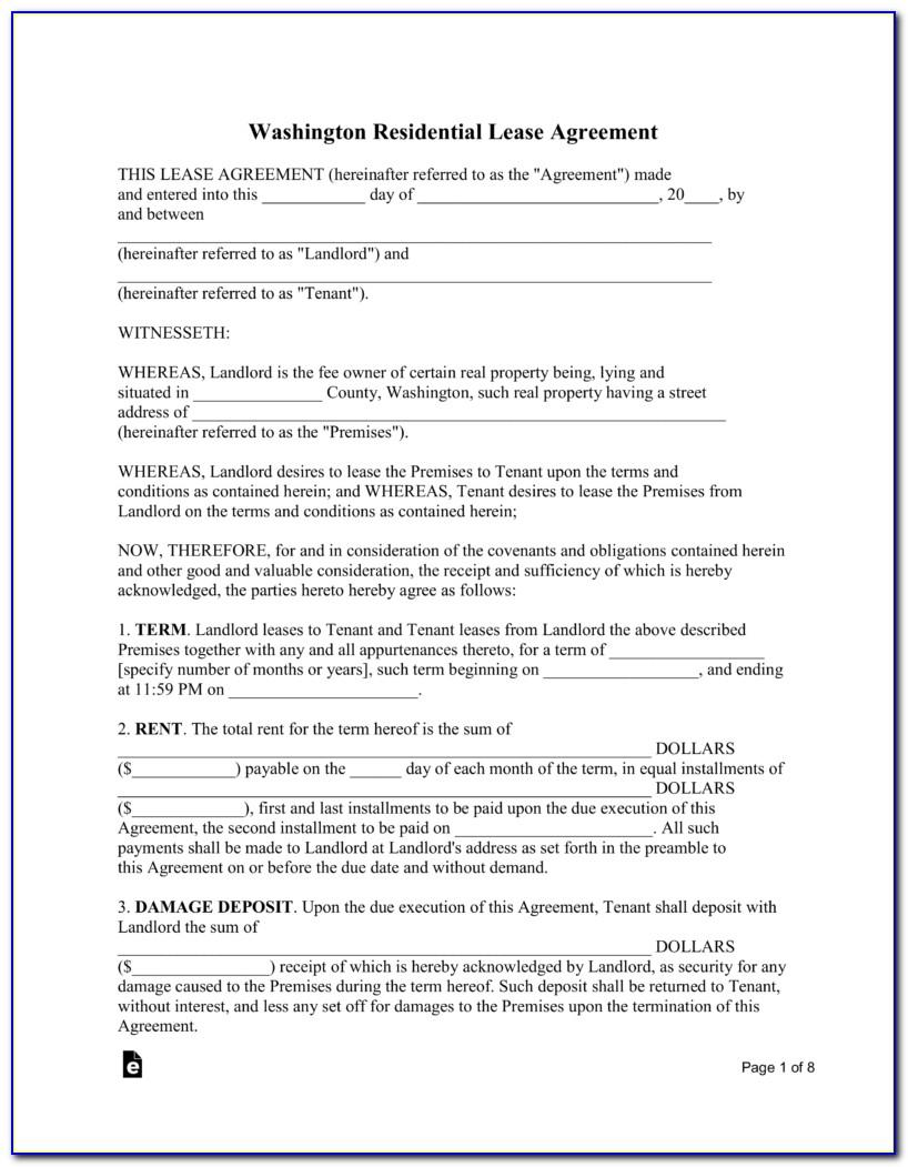 Free Washington State Rental Agreement Template