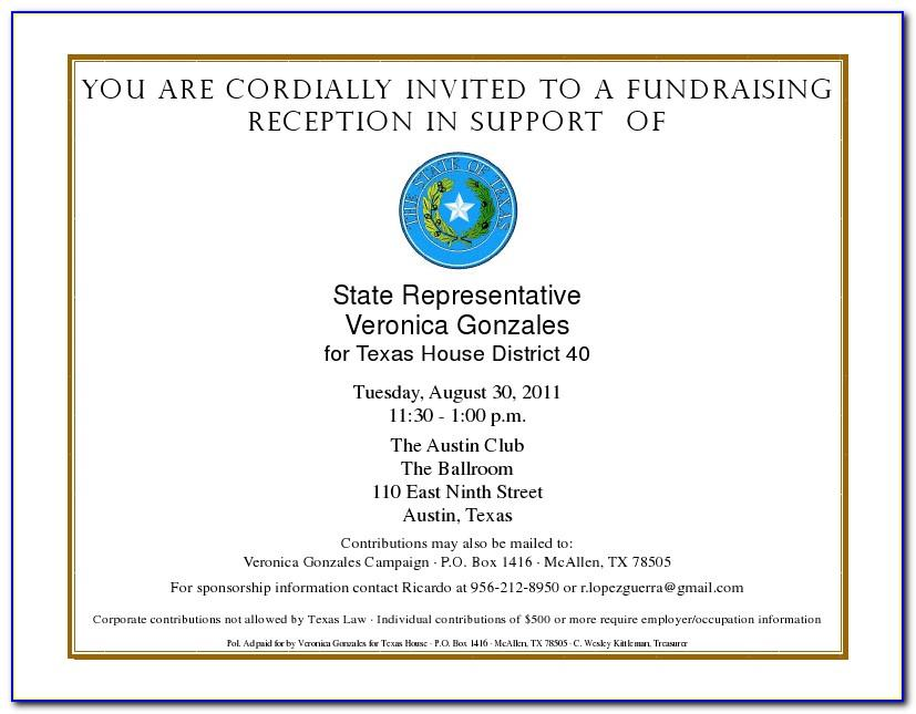 Fundraiser Invitation Letter Template