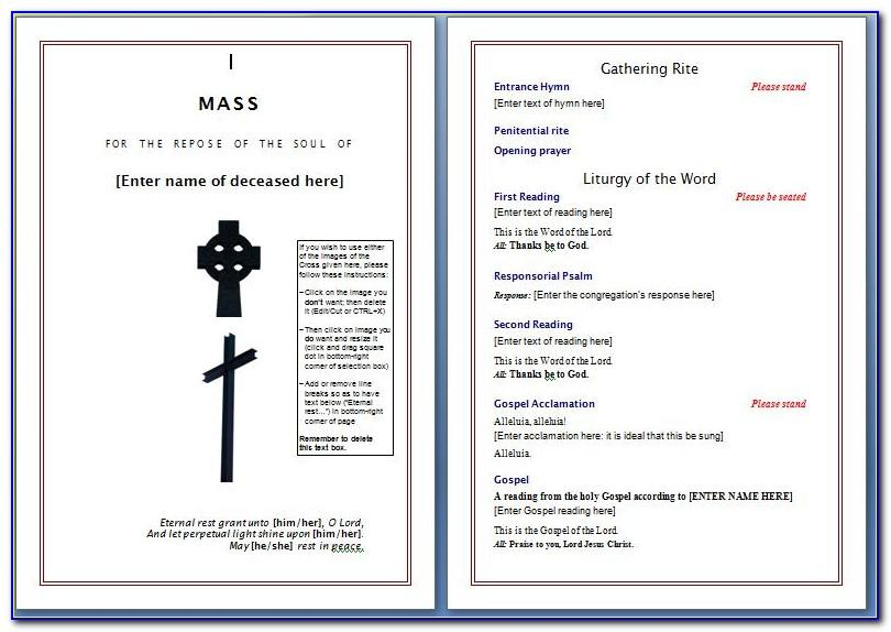 Funeral Service Book Template