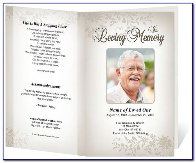 Funeral Service Booklet Template Word