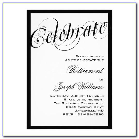 Funny Retirement Invitations Templates