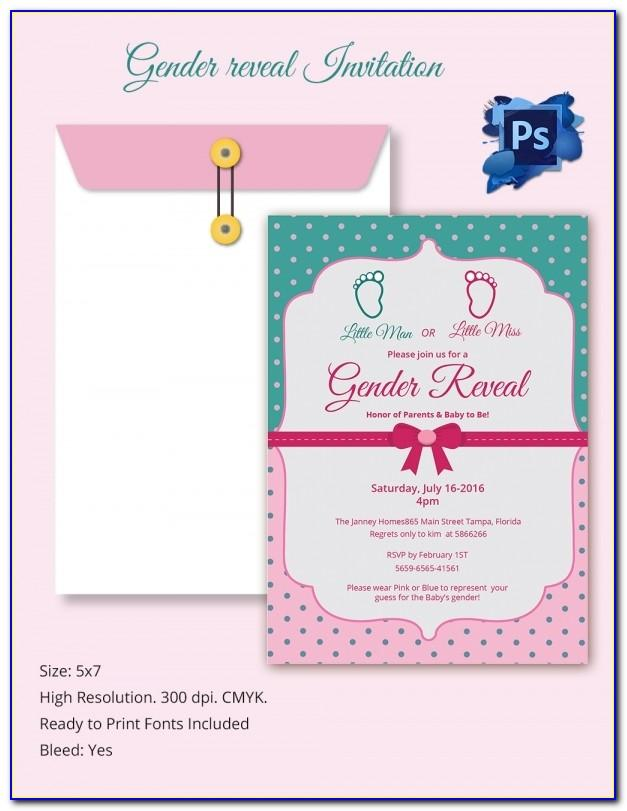 Gender Reveal Card Template