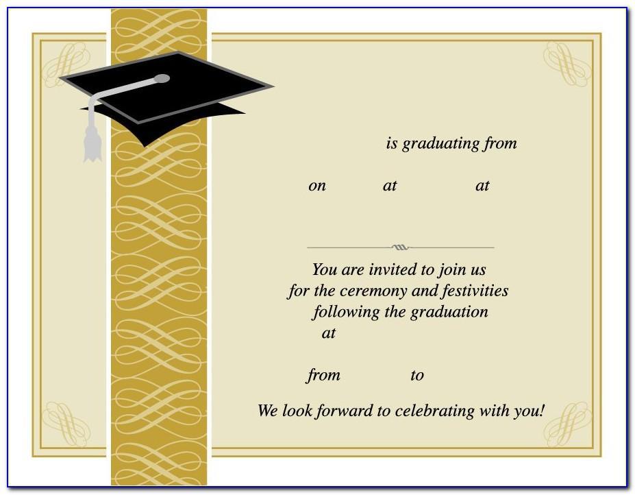 Graduation Invite Template Free