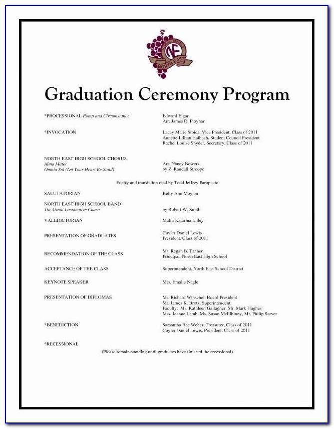 Graduation Party Program Sample
