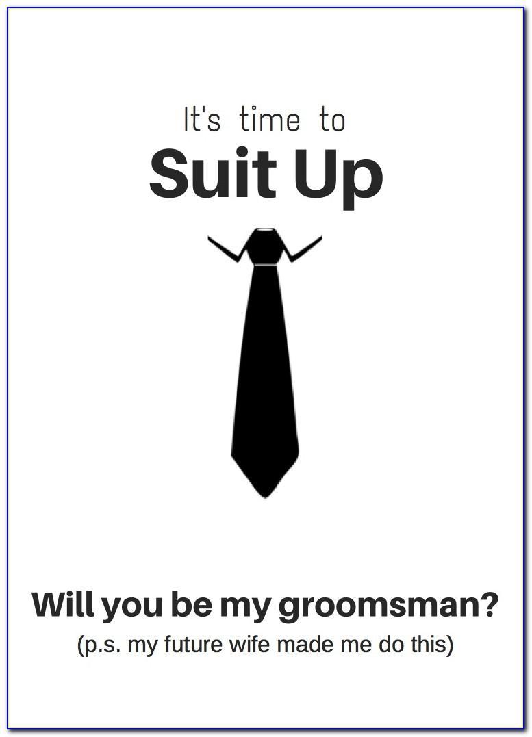 Groomsmen Proposal Card Template