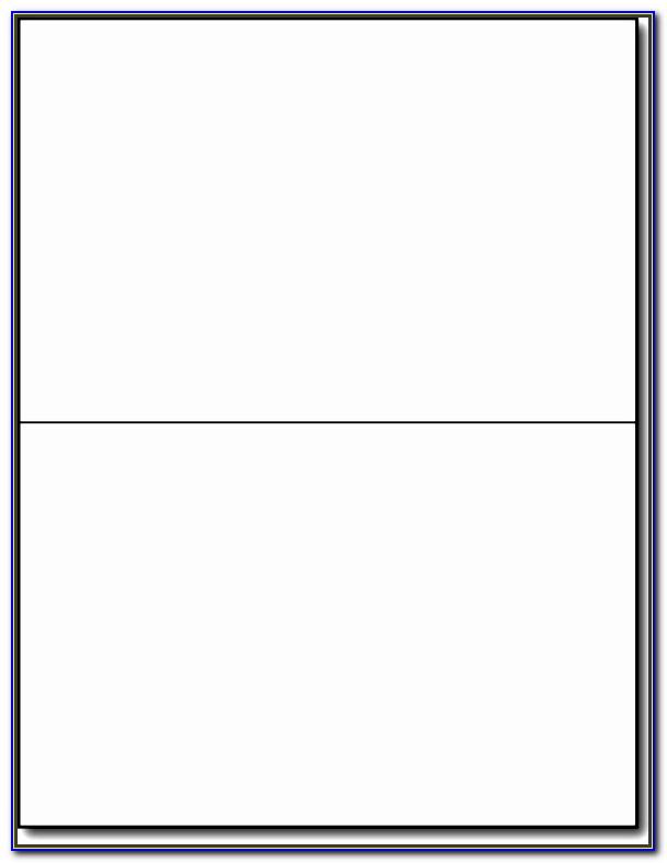Half Fold Greeting Card Envelope Template