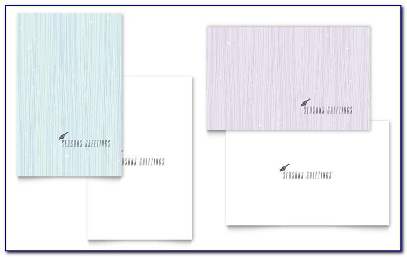 Half Fold Greeting Card Template Photoshop